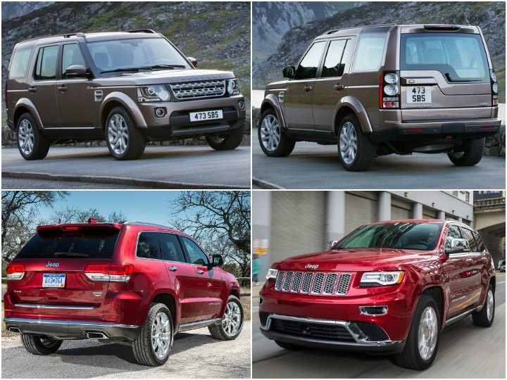 jeep grand cherokee and land rover discovery spec comparo zigwheels. Black Bedroom Furniture Sets. Home Design Ideas