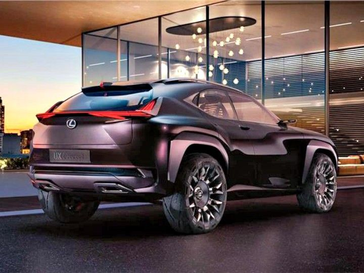 Lexus UX Concept rear quarter shot