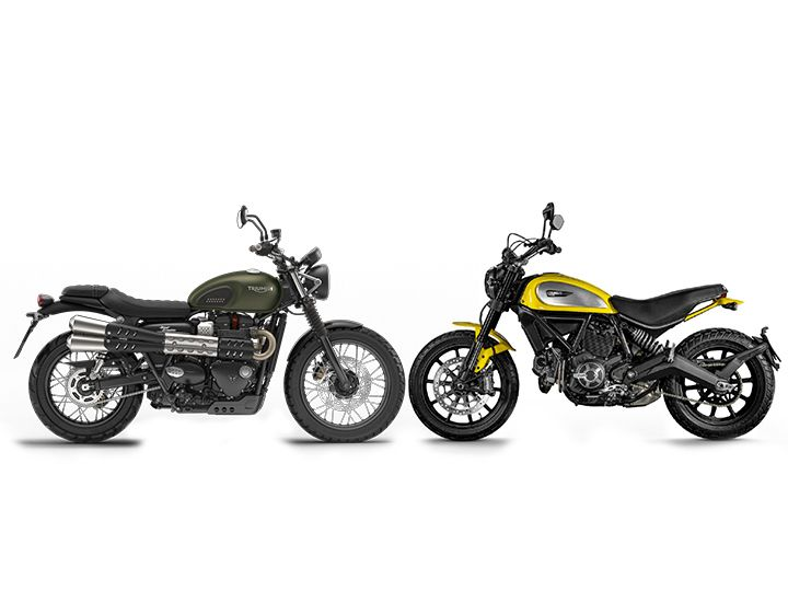Spec Comparison Review: Triumph Street Scrambler vs Ducati Scrambler ...