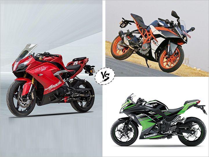 TVS Apache RR 310 vs KTM RC 390 vs Kawasaki Ninja 300: Spec Comparison