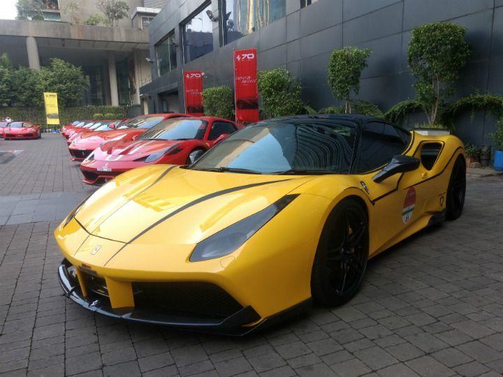Ferrari 70th Anniversary Mumbai Drive Code Red