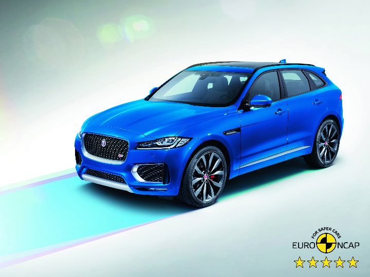 jaguar f pace receives 5 star safety rating zigwheels. Black Bedroom Furniture Sets. Home Design Ideas