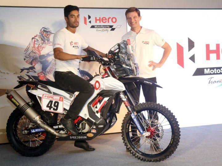 Hero MotoSports Showcases New Rally Bike Ahead Of 2018 Dakar Rally