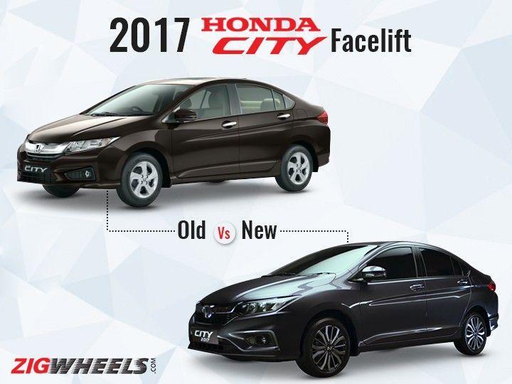 Honda City Facelift   Old Vs New
