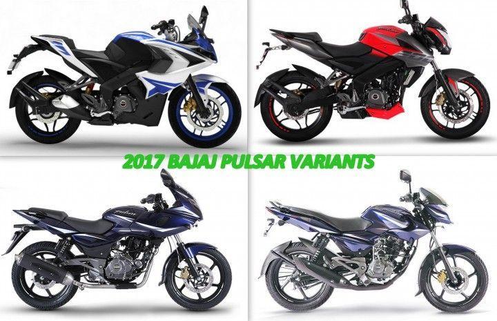 2017 Bajaj Pulsar Variants