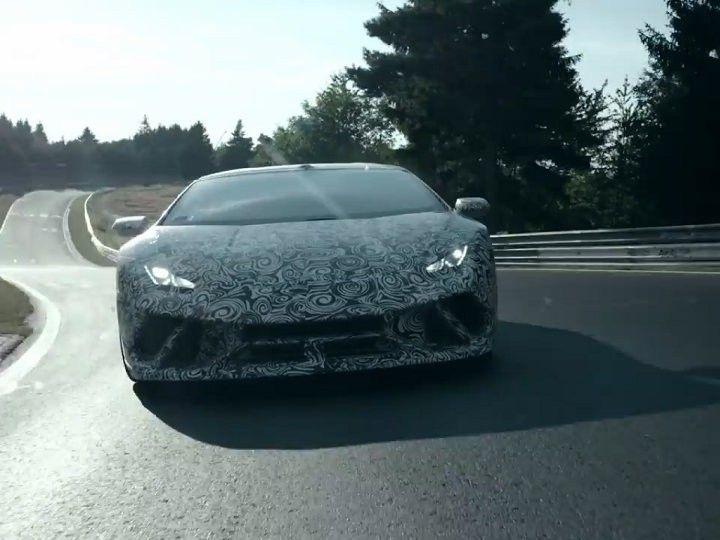 Lamborghini Huracan Performante testing at the Nurburgring