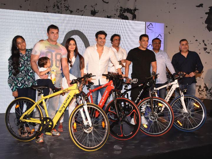 0775f105152 Being Human E-Cycle. Bollywood superstar Salman Khan ...