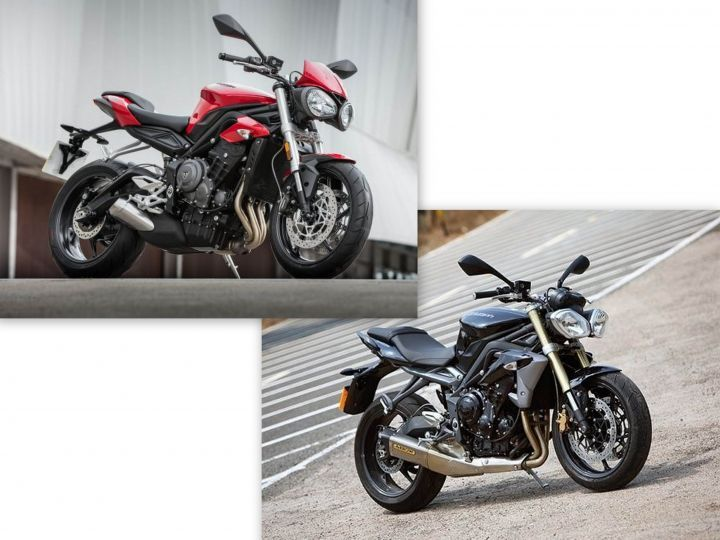 Triumph Street Triple - old vs new