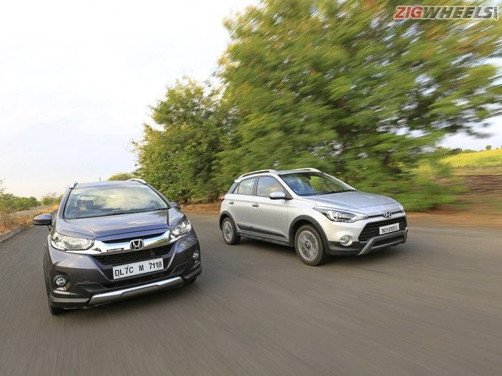 Honda Wr V Vs Hyundai I20 Active Comparison Review Zigwheels