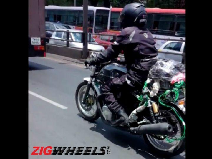 Royal Enfield  twin-cylinder bike