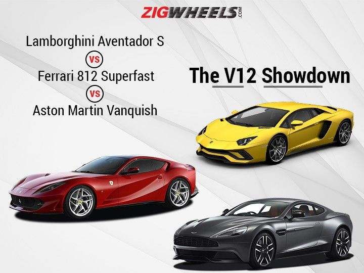 Lamborghini Aventador S Vs Ferrari 812 Superfast Vs Aston