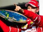 Sebastian Vettel Lifts Australian GPs Trophy Amidst Forza Ferrari Shout-outs