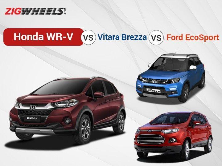 Wrv Vs Vitara Brezza Vs Ecosport Spec Comparison Zigwheels