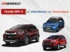 WR-V vs Vitara Brezza vs EcoSport : Spec Comparison