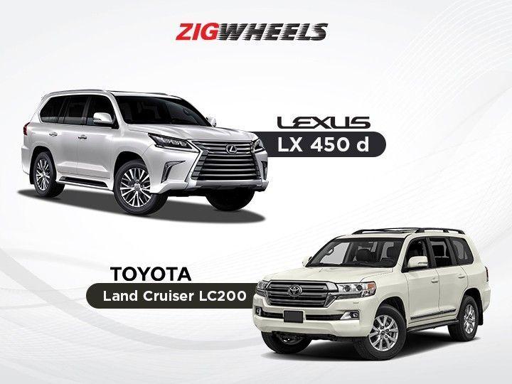 Lexus Lx 450d Vs Toyota Land Cruiser Rs 1 Crore Premium