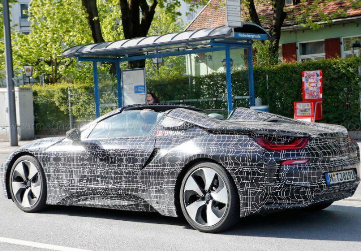 BMW i8 Roadster Spied
