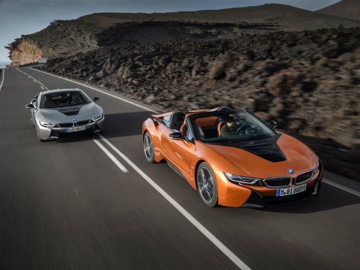 Bmw I8 Roadster Unveiled Coupe Gets An Update Zigwheels