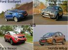 Spec Comparison: Ford EcoSport Vs Maruti Suzuki Vitara Brezza Vs Tata Nexon Vs Honda WR-V