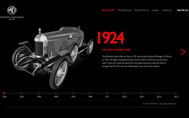 MG Motor India Website