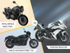 Engine Comparo: Royal Enfield 650cc Twin vs Kawasaki Ninja 650 vs Harley-Davidson Street 750