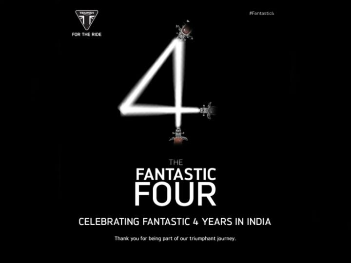 Triumph Motorcycles Complete Four Years In India