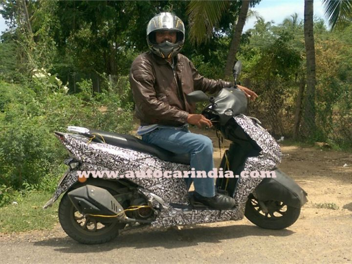 More Details Of New TVS Scooter Emerge