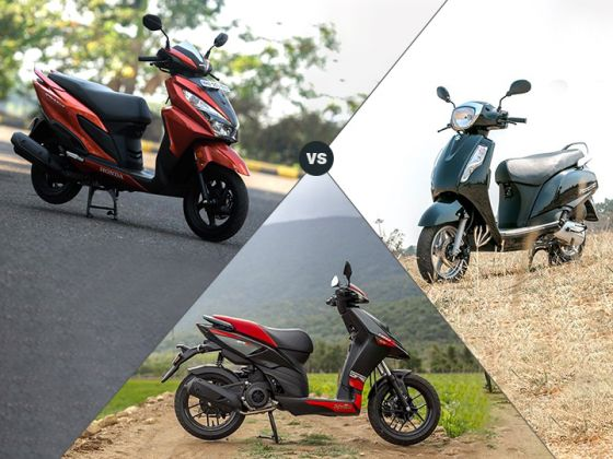 Honda Grazia vs Suzuki Access 125 vs Aprilia SR 150: Spec Comparison
