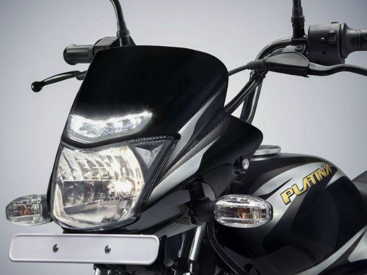 The Bajaj Platina with DRLs