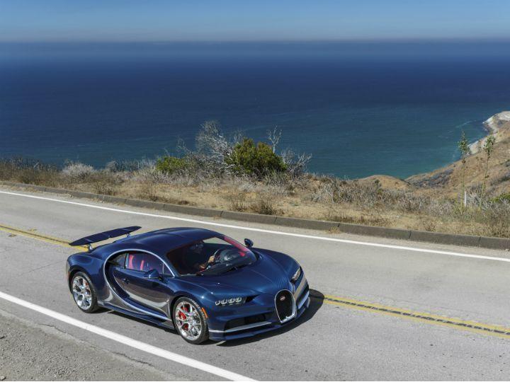 Bugatti Chiron on the road