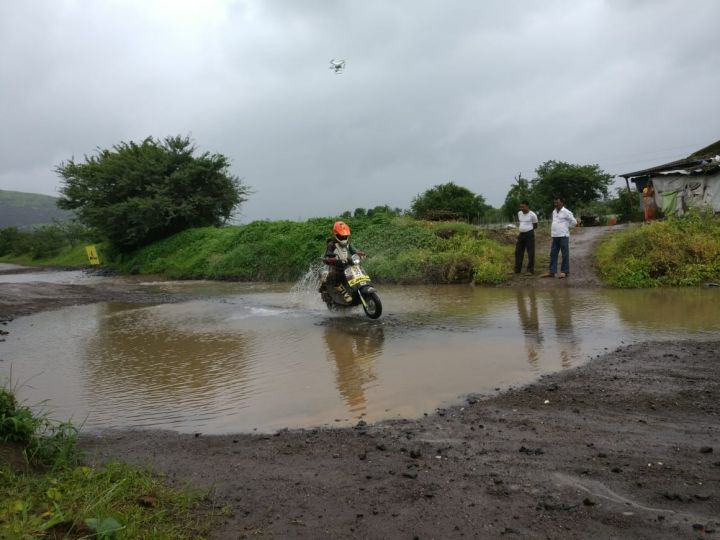 Venkatesh Shetty Wins 2018 JK Tyre Monsoon Scooter Rally