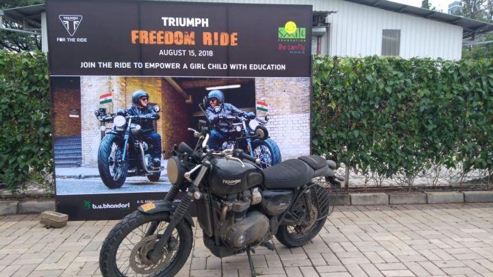 Triumph I Day Ride banner