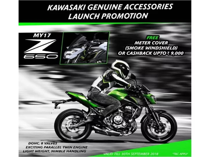 Kawasaki Z250, Z650 Now Available With Free Accessories And Cashback