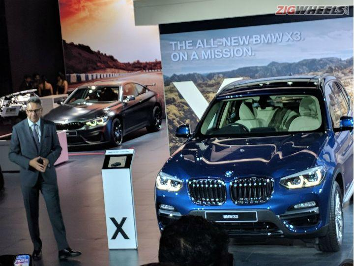 New BMW X3 Showcased At Auto Expo 2018