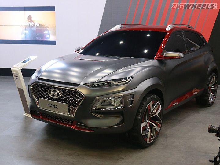 Hyundai Kona EV Showcased At Auto Expo 2018 ZigWheels