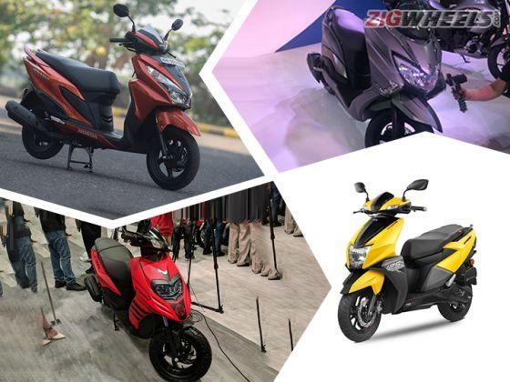 TVS Ntorq 125 vs Suzuki Burgman Street vs Aprilia SR 125 vs Honda Grazia: Spec Comparison