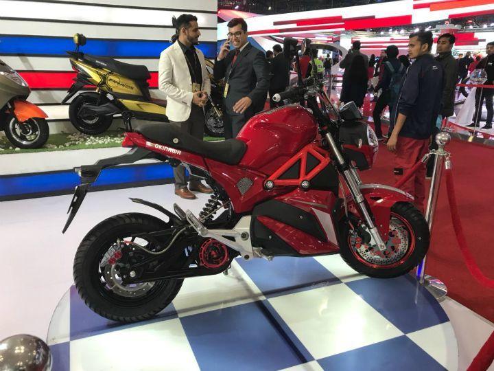 Okinawa Showcases Prototype Oki 100 Electric Motorcycle