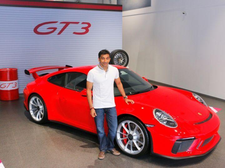 Porsche 911 GT3 And Karthikeyan