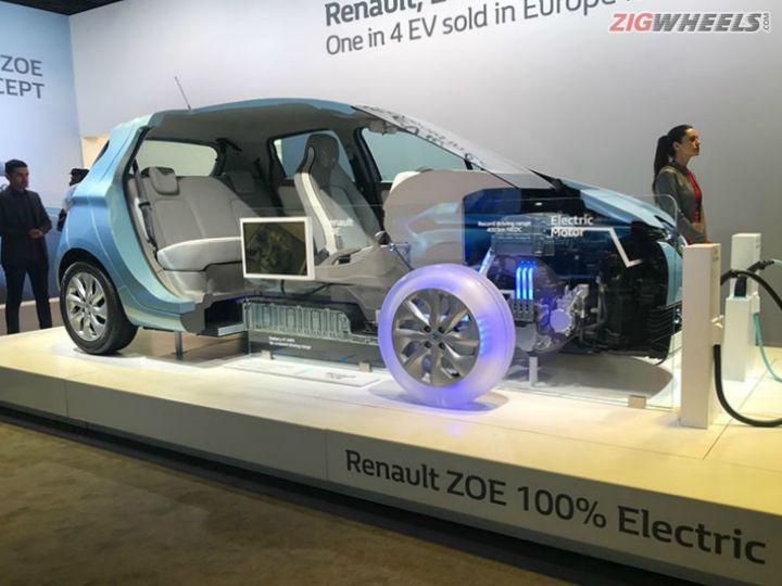 Renault Zoe And Zoe Esport Concept Showcased At Auto Expo 2018