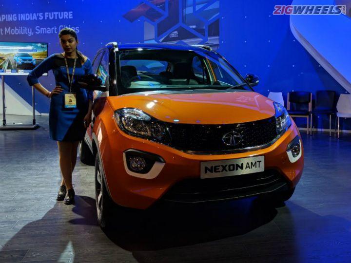 Tata Nexon AMT Showcased At Auto Expo 2018