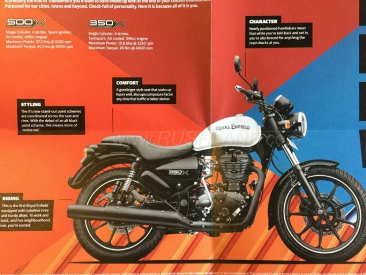 Royal Enfield Thunderbird 350X and 500X Brochure Leaked