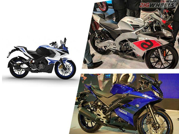 Yamaha R15 V3.0 vs Aprilia RS 150 vs Bajaj Pulsar RS200: Spec Comparison