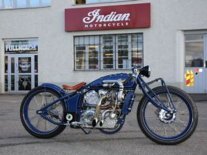 Indian Scout + Turbo = Motorcycle Art