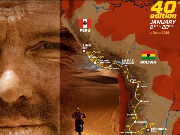 Dakar 2018 route