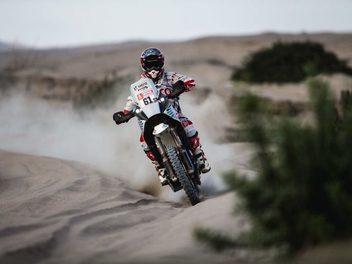Santosh 51st overall after stage 5 at Dakar Rally