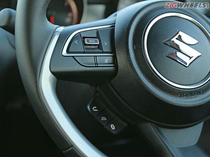 new Maruti Suzuki Swift steering controls