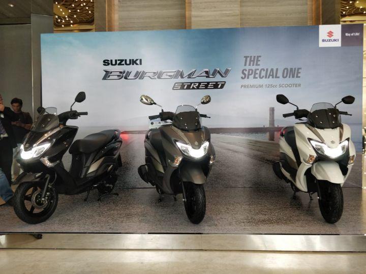 Suzuki Burgman Street launch shot