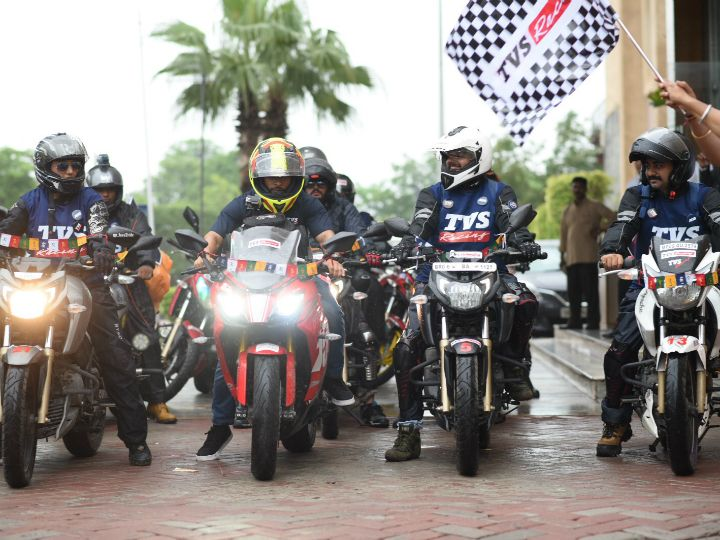 TVS AOG 'Race To The Clouds' Ride Flagged Off