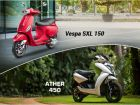 Ather 450 vs Vespa SXL 150 - Which Is Cheaper To Run?