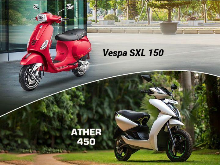 Ather 450 vs Vespa SXL 150