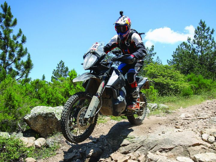 KTM 790 Adventure R prototype action